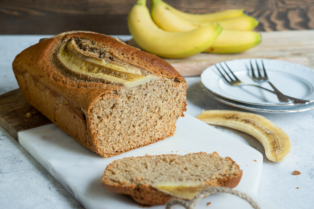 chlebek bananowy fit
