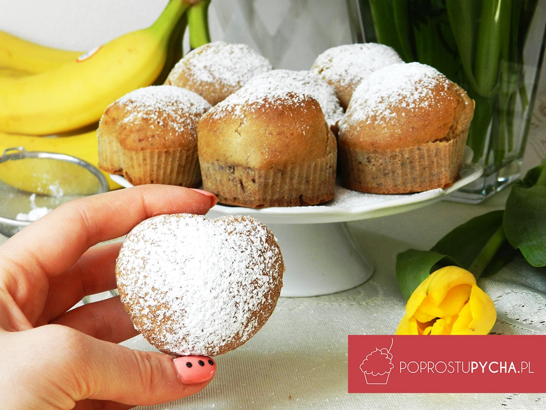 Photo of Wegańskie muffinki bananowe