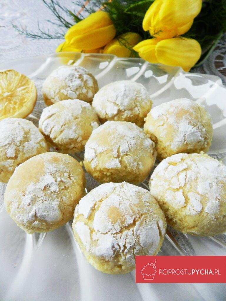 Popękane ciasteczka cytrynowe