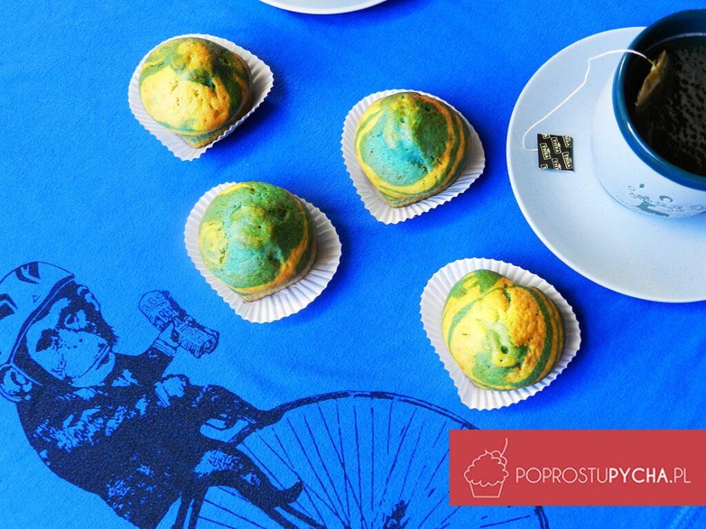 Niebieskie muffinki