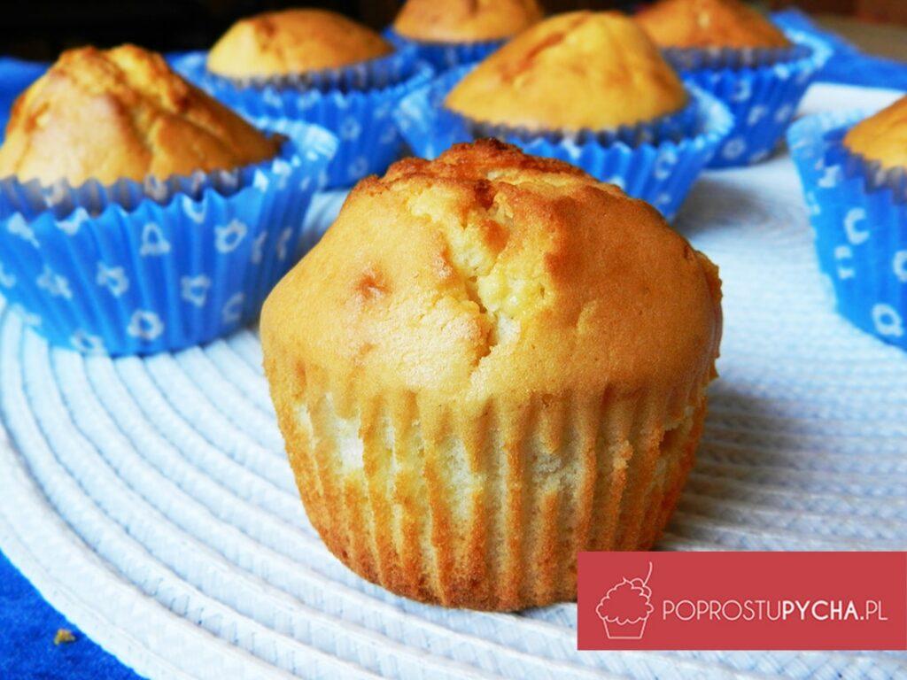muffinki zbiałą czekoladą