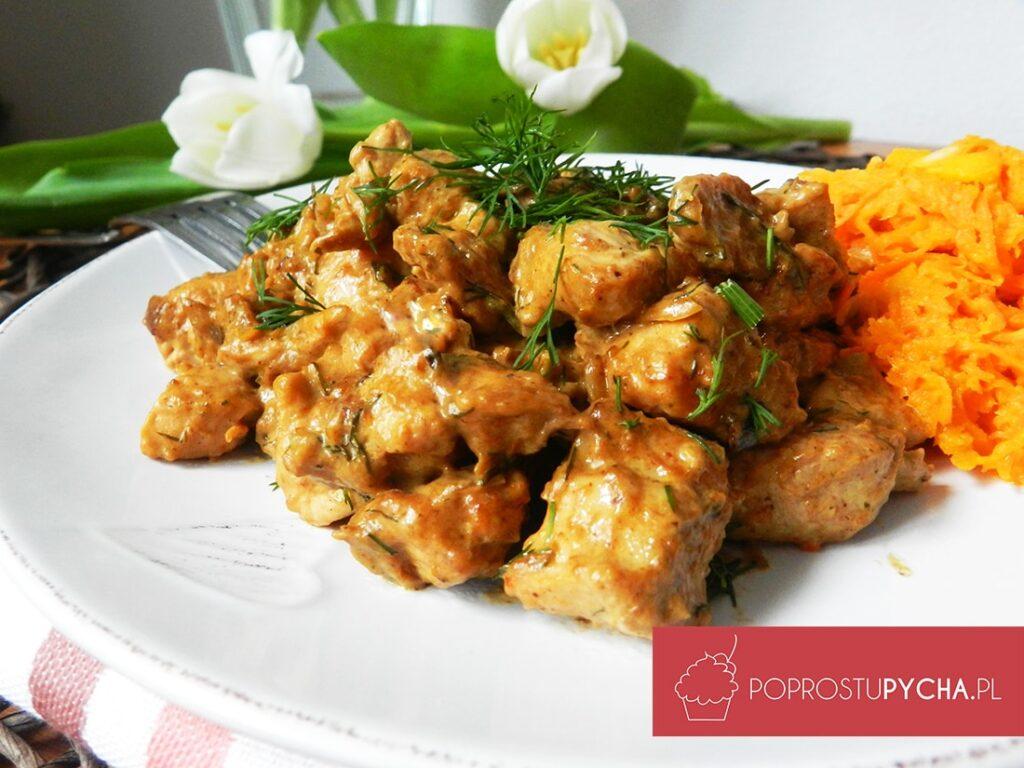 Kurczak wsosie śmietanowo-koperkowym