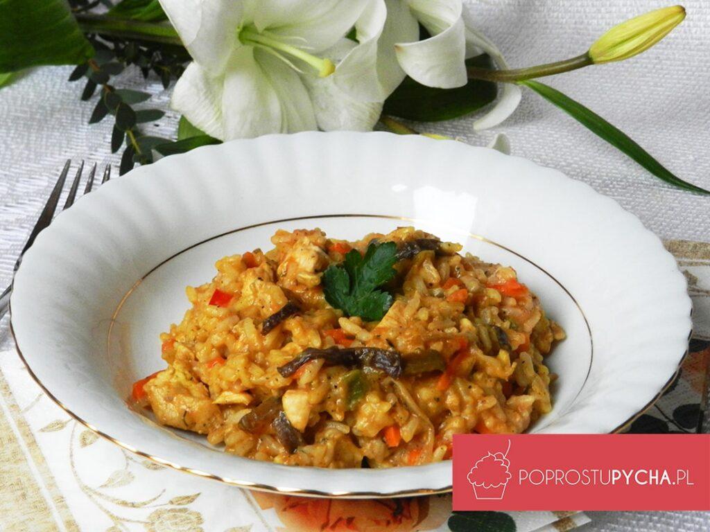 Risotto zbukietem warzyw chińskich