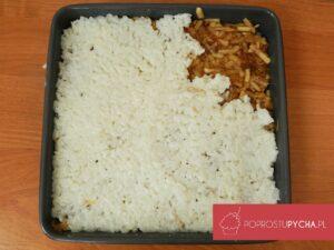 Zapiekany ryż zjabłkami