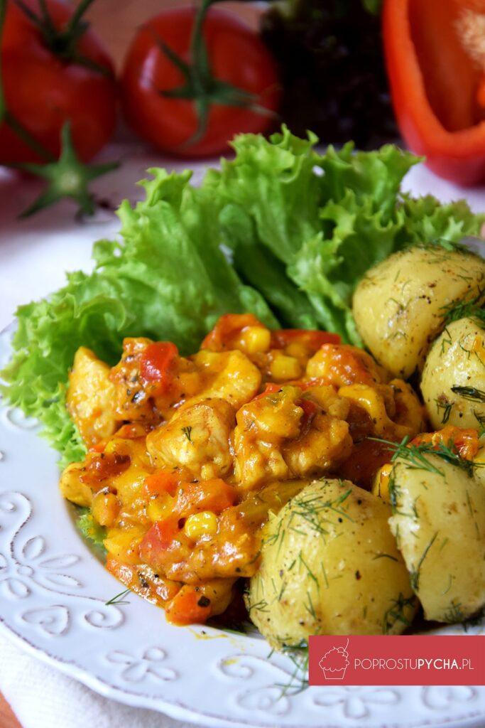 Kurczak wsosie curry