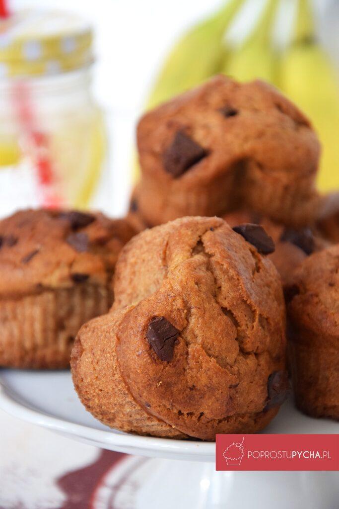 Pełnoziarniste muffiny bananowe