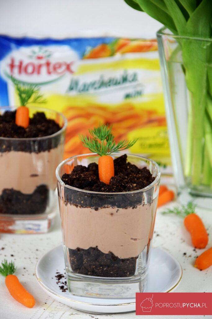 Czekoladowy deser zmini marchewkami Hortex