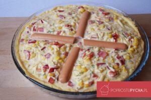 Tarta warzywno-serowa zparówkami