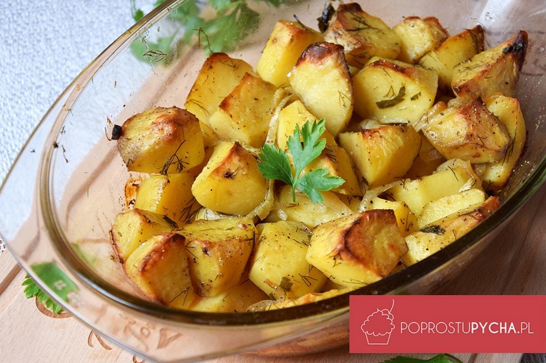 Ziemniaki pieczone z cebulką