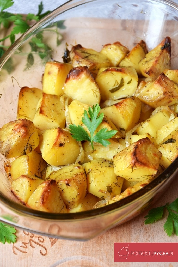 Ziemniaki pieczone zcebulką