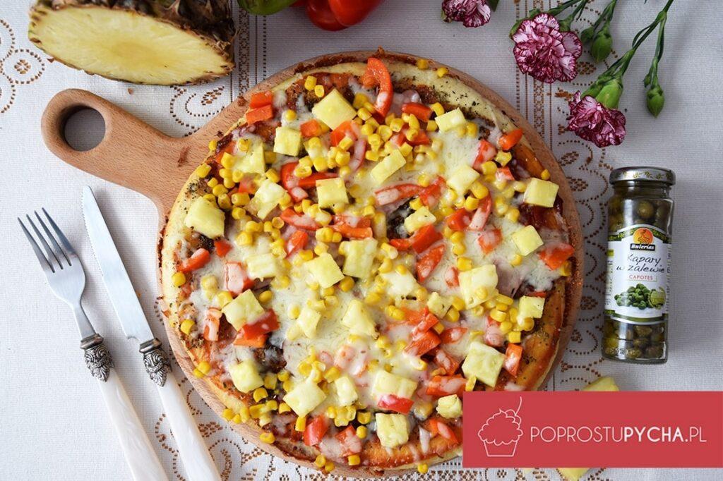 Hawajska pizza zpatelni