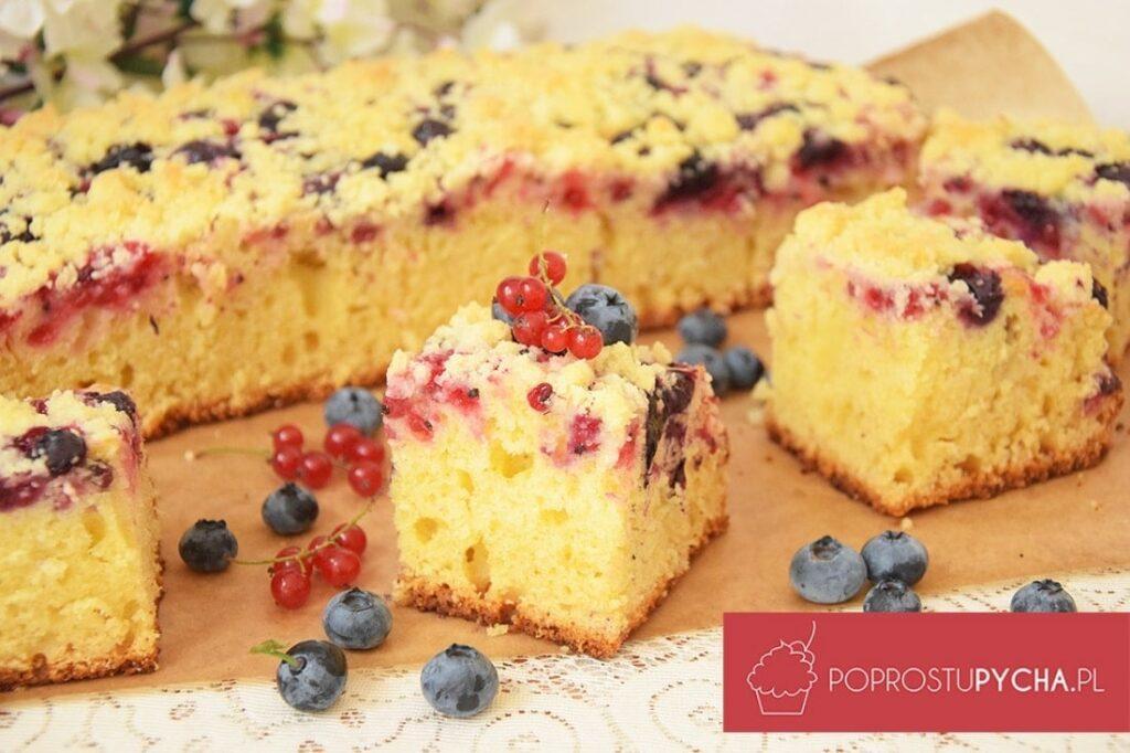 proste ciasto zowocami