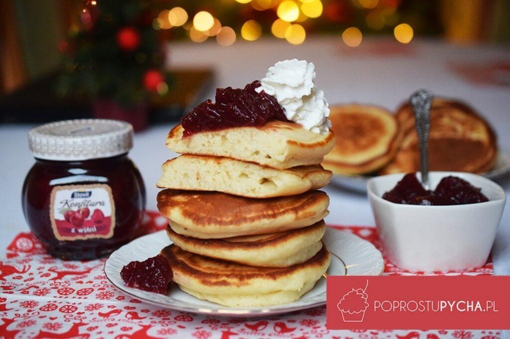 Miodowe pancakesy