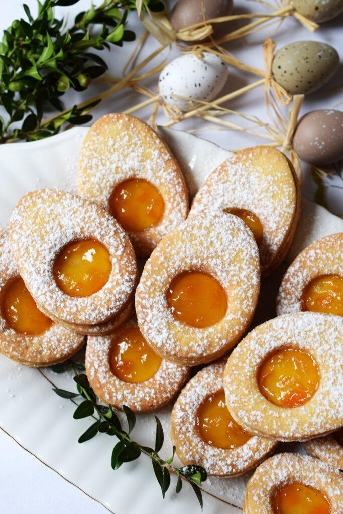 Ciasteczka jajeczka przełożone dżemem