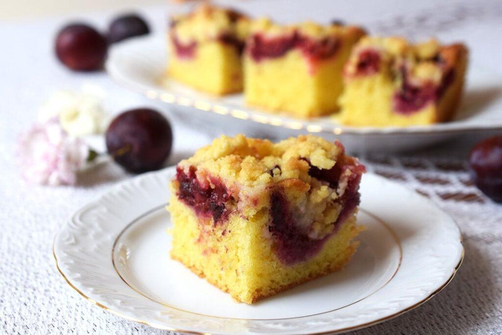 ciasto ucierane ześliwkami