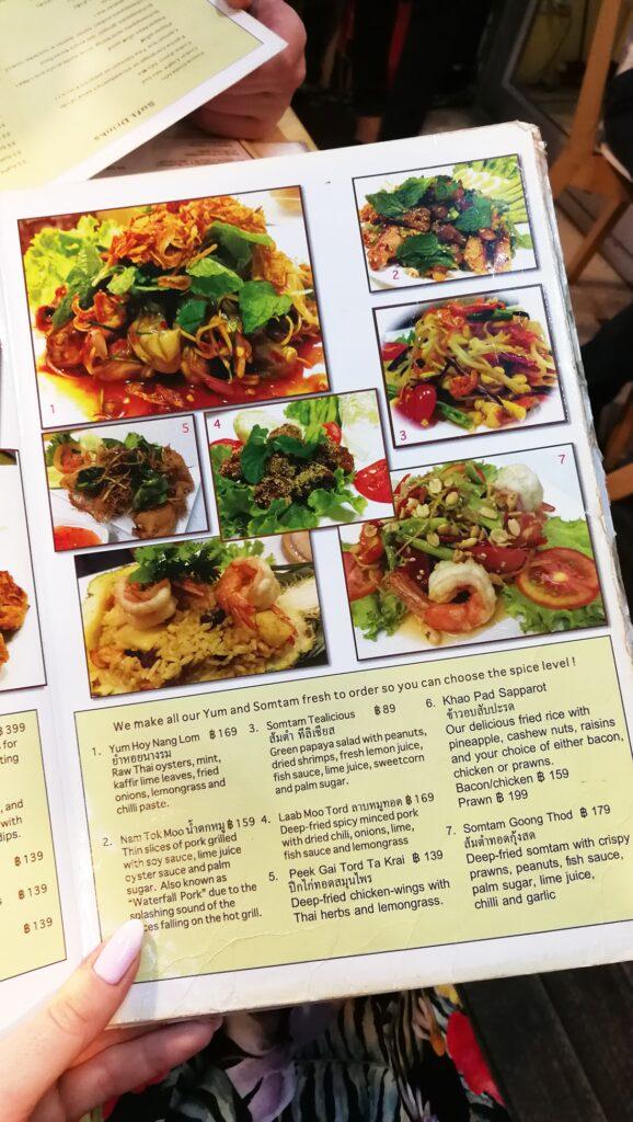 Tealicious - Bangkok menu