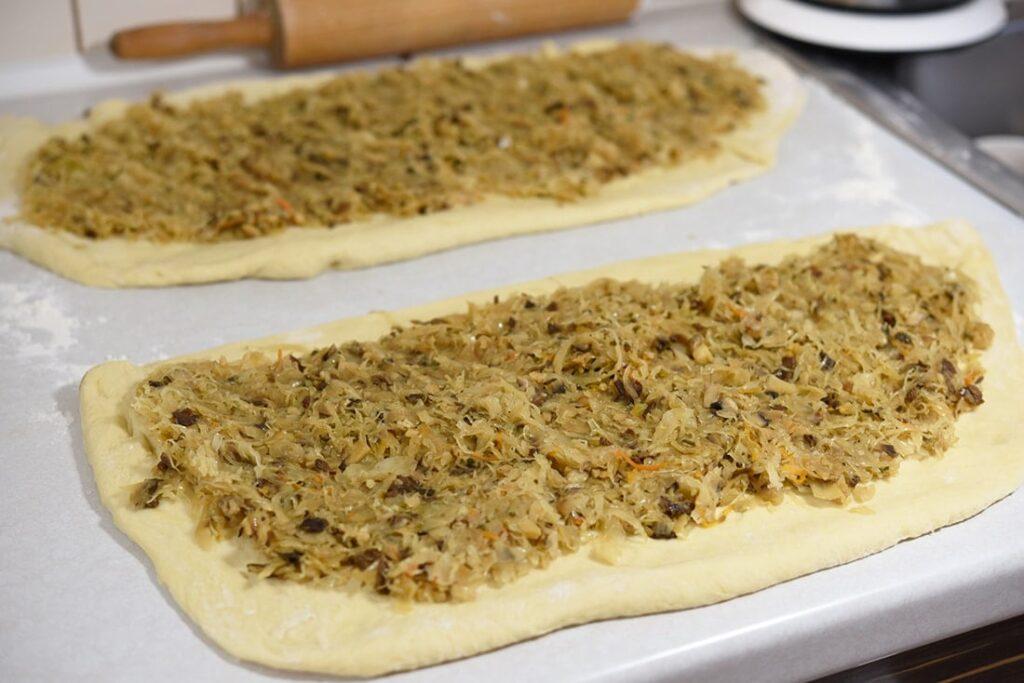 Kulebiak zkapustą - przygotowanie 7