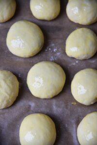 pieczone pączki Rafaello