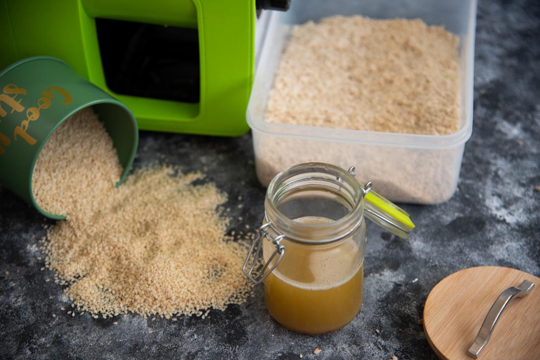 Olej sezamowy i mąka z sezamu