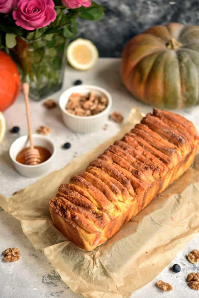 przepis naodrywany chlebek dyniowy