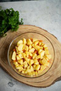 warstwa ziemniaków