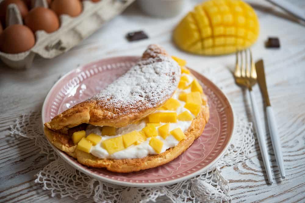 przepis na omlet na słodko