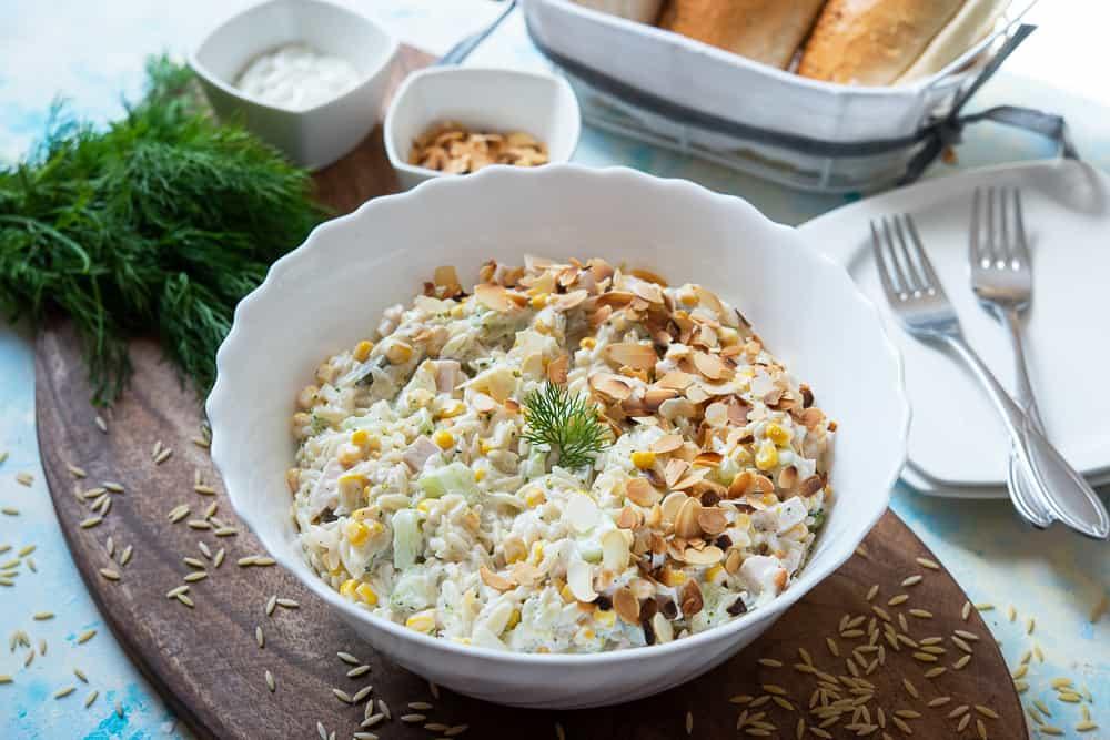 sałatka zmakaronem ryżowym