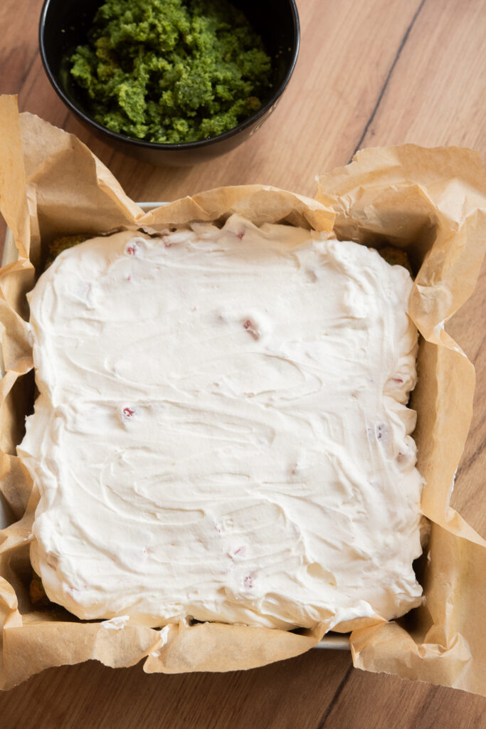 leśny mech ciasto