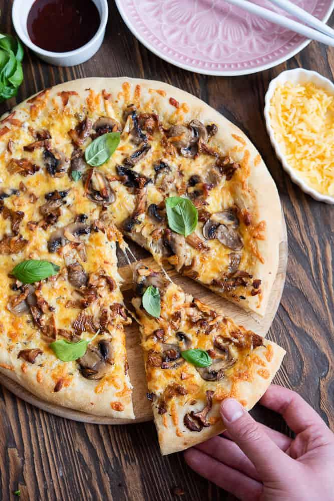 pizza zkurkami