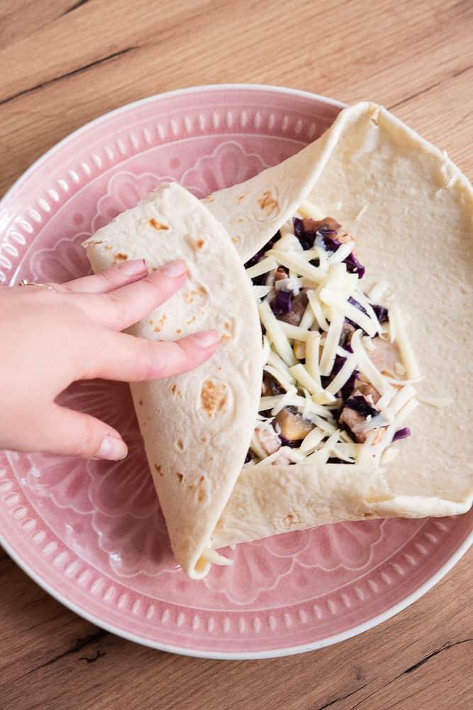 domowa tortilla zkurczakiem